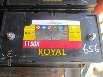 Picture of 21 July 2021 - Reusable Royal Delkor 1150K 100AH Deep Cycle 12Volt Battery Item No 656