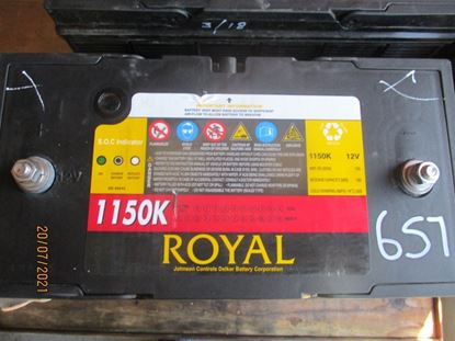 Picture of 21 July 2021 - Reusable Royal Delkor 1150K 100AH Deep Cycle 12Volt Battery Item No 657