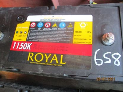 Picture of 21 July 2021 - Reusable Royal Delkor 1150K 100AH Deep Cycle 12Volt Battery Item No 658