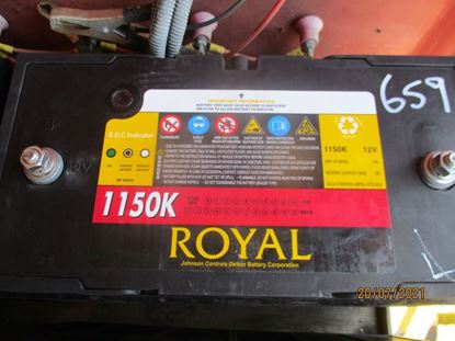 Picture of 21 July 2021 - Reusable Royal Delkor 1150K 100AH Deep Cycle 12Volt Battery Item No 659
