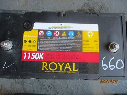 Picture of 21 July 2021 - Reusable Royal Delkor 1150K 100AH Deep Cycle 12Volt Battery Item No 660